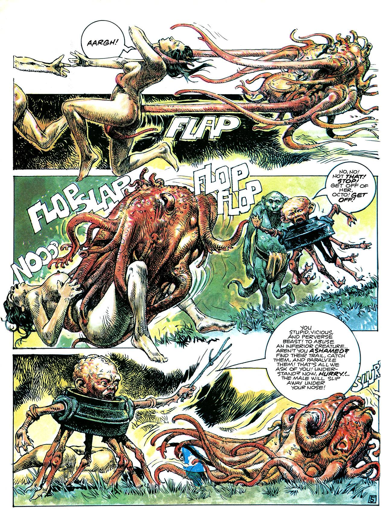 Heavy Metal magazine, in the special issue Son of Heavy MetalMay 1984paolo-serpieri-children-of-the-future-excerpt
