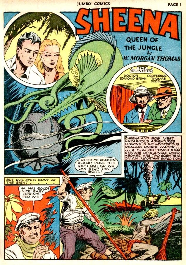 Jumbo Comics #31-Sheena-Voodootreasureofblackslavelake