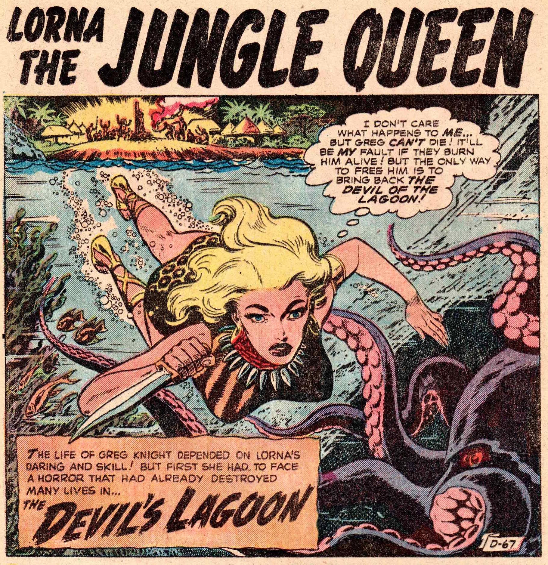 Lorna the Jungle Queen #4-devil's lagoon