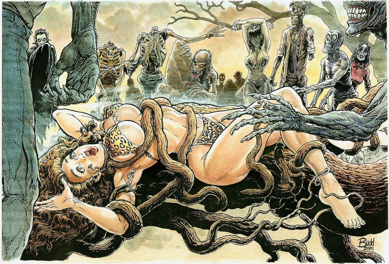 Cavewoman- Pangaean Sea #4 by Budd Root