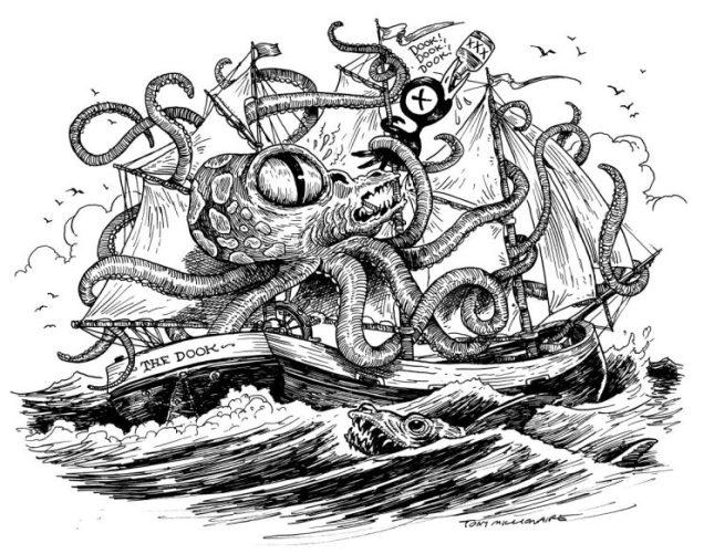 sea-Octopus-getting-Drinky-Crow-740x584
