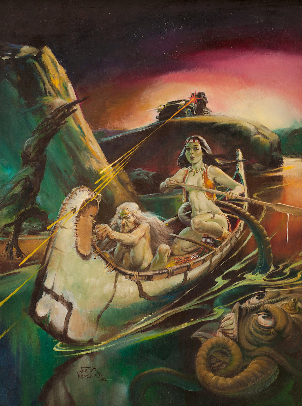paintedNestor Redondo Painted Fantasy Cover Original Art