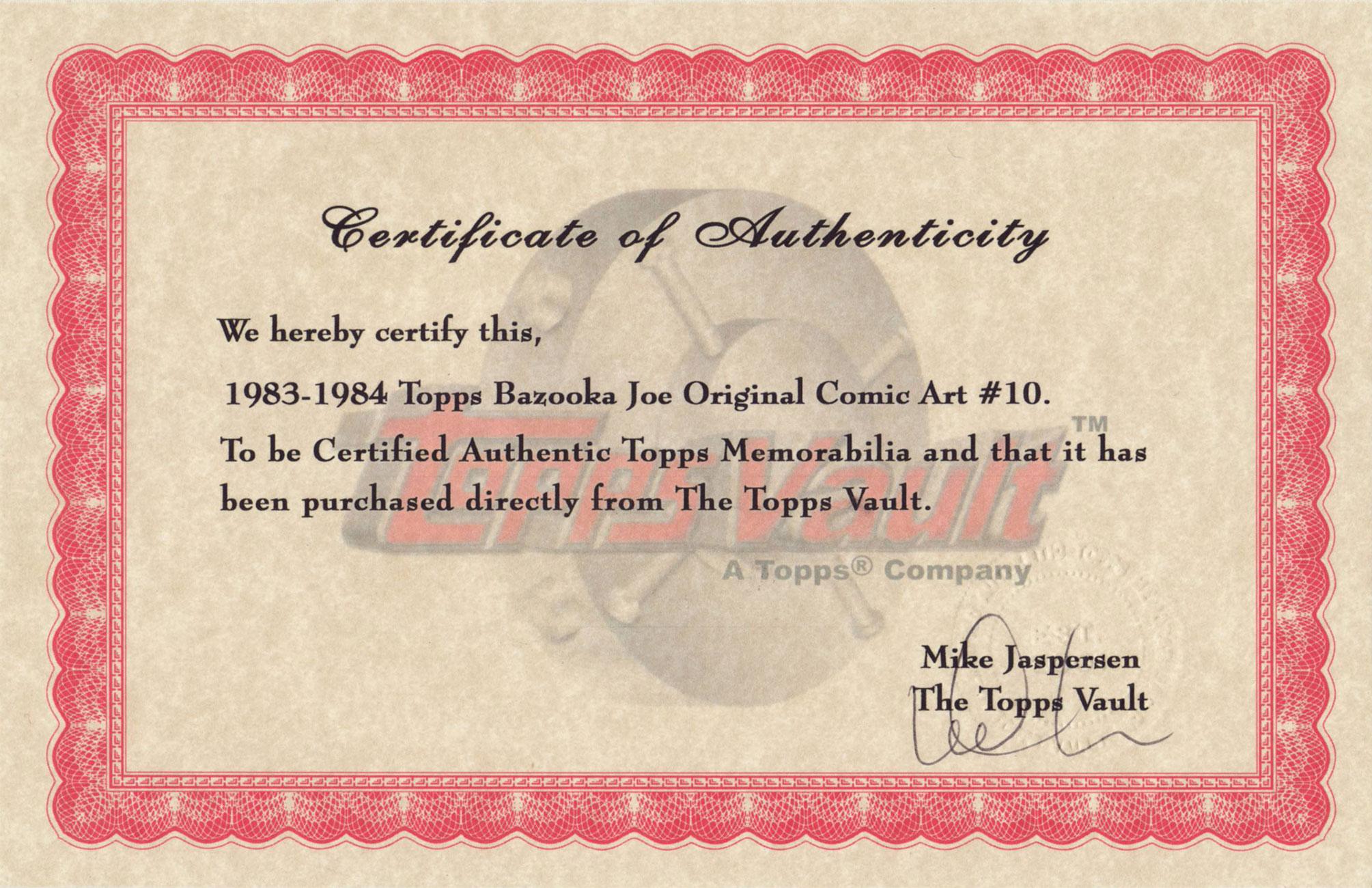 ToppsCertificateA