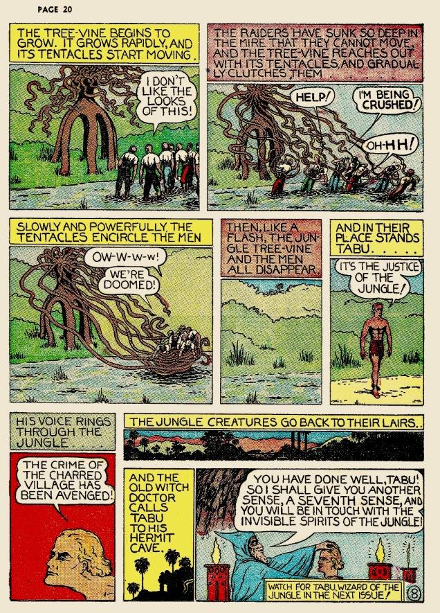 Fletcher-Hanks-Jungle Comics # 1-tentacles