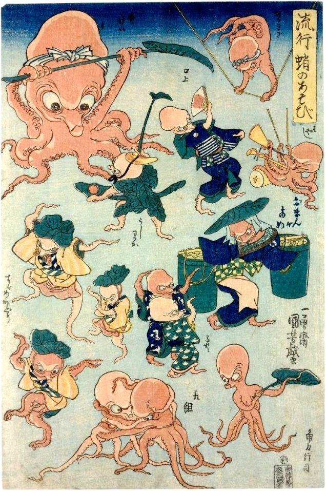 Utagawa Kuniyoshi-OctopusGames
